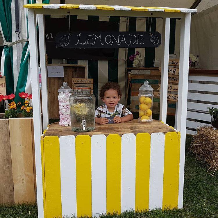 Kid's Wooden Lemonade Stand